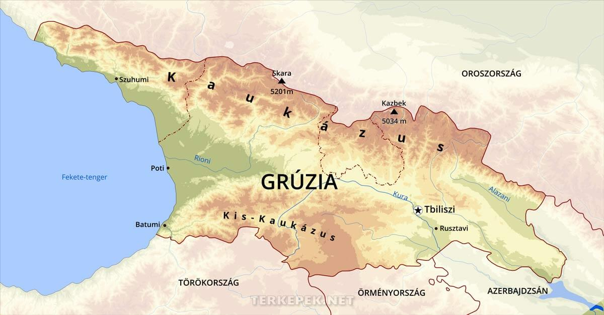 oroszország domborzati térkép Grúzia domborzati térképe oroszország domborzati térkép